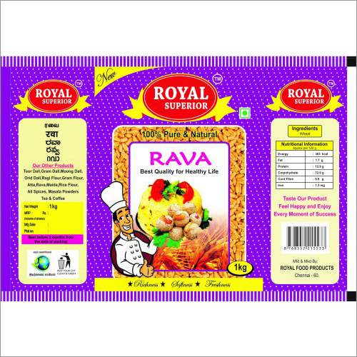Royel Superior Rava 1Kg Packing Pouches