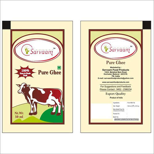 Ghee Packaging