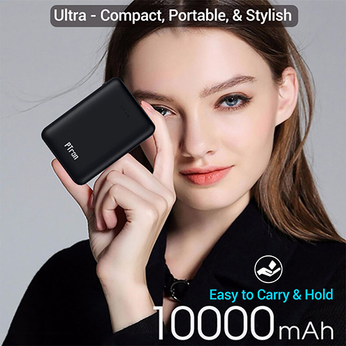 pTron Dynamo Z 10000mAh 2.4A Compact Power Bank with 2 USB Ports