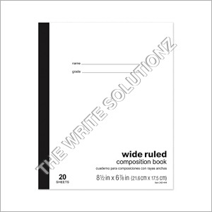 Wide Ruled Notebook