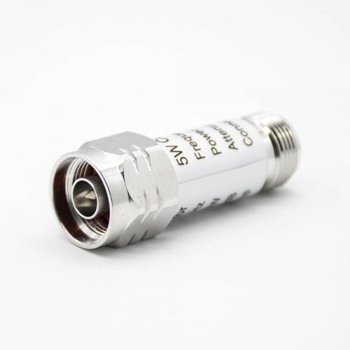 N Type Attenuator Male Butt-Joint Female Straight N RF Coaxial Attenuator Connectors DC-3GHz 30W 10dB Lightning Arrester