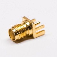 SMA Connector Straight Female For Edge Mount