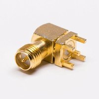 RP-SMA Jack Connector Angled Gold Plated For PCB