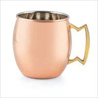 Beer Mug Copper Plain & Hammered 610 ml