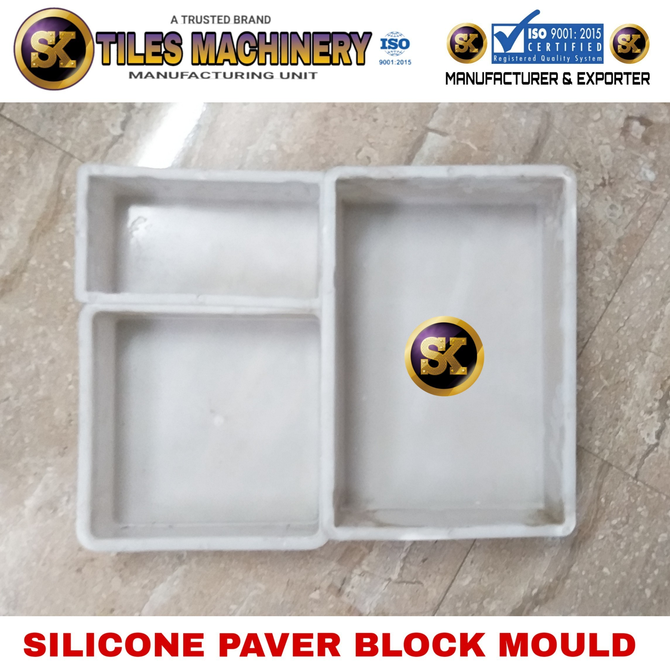 Brick 60 mm Silicone Plastic Mould