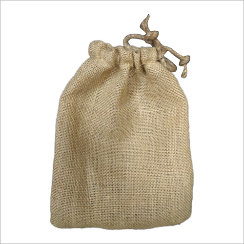 Jute Plain Pouch Bag