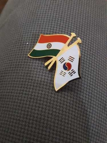 Cross Flag Lapel Pin