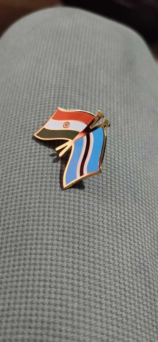 Cross Flag Lapel Pin