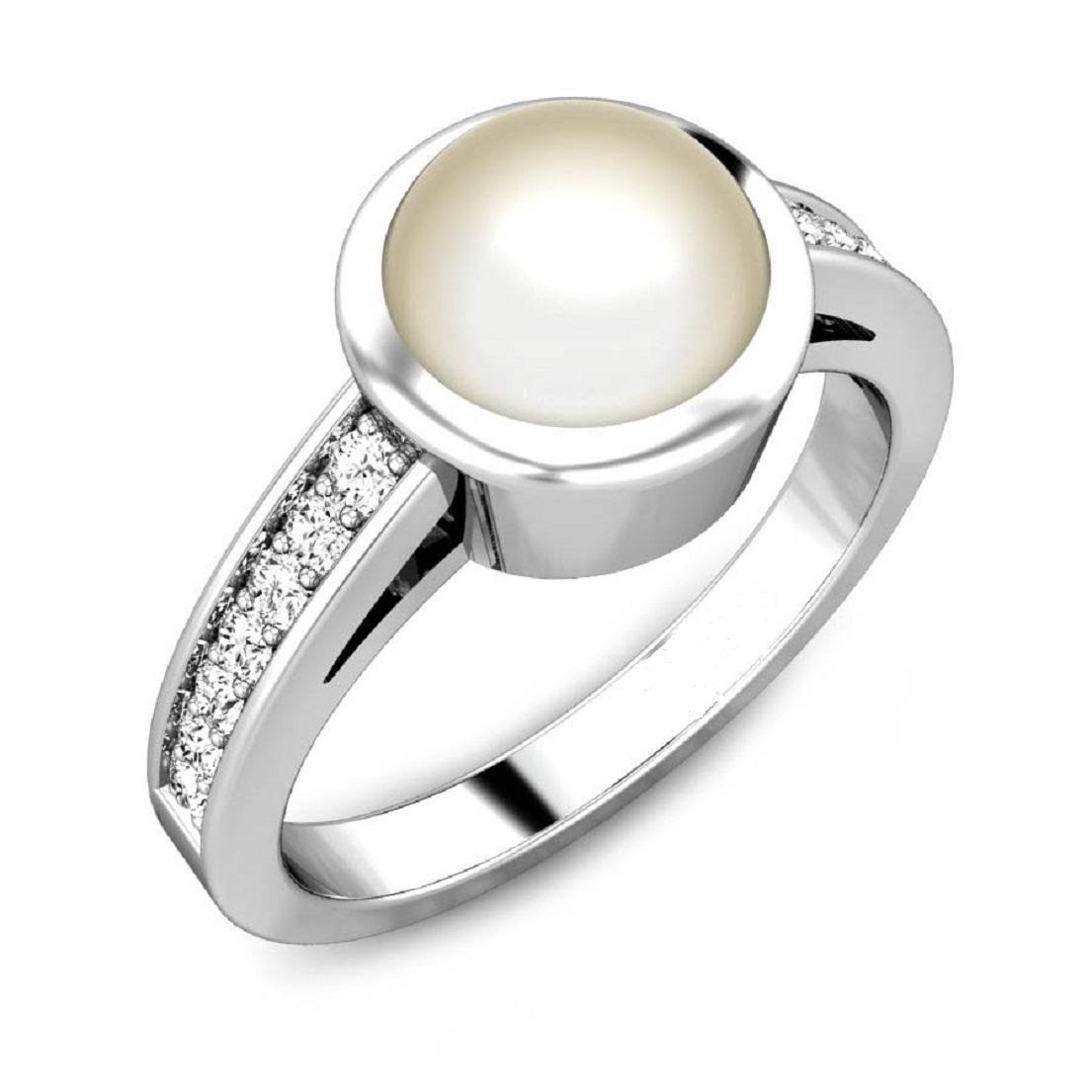 92.5 silver Pearl Rings
