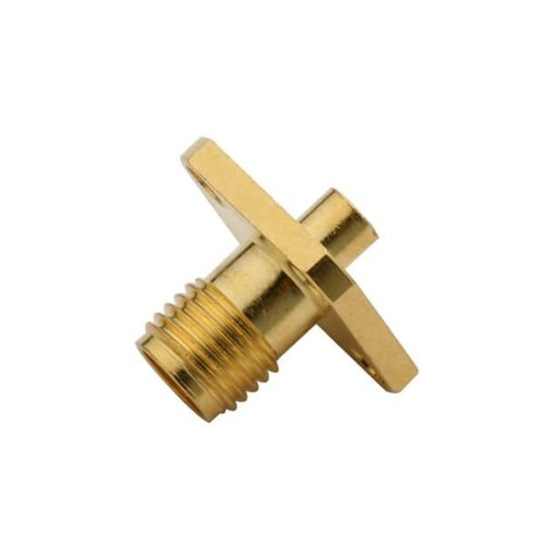 SMA Connector Female With Cable 4 Holes Flange Mount