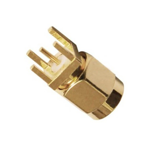 SMA Connector Gold Plated Straight Male For PCB