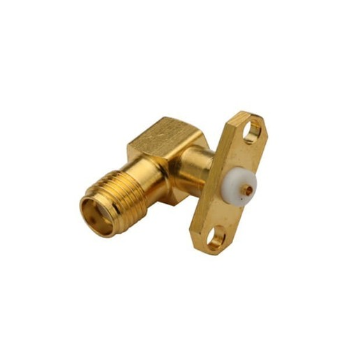 SMA Connector Panel Mount Right Angle 2 Hole Flange Jack
