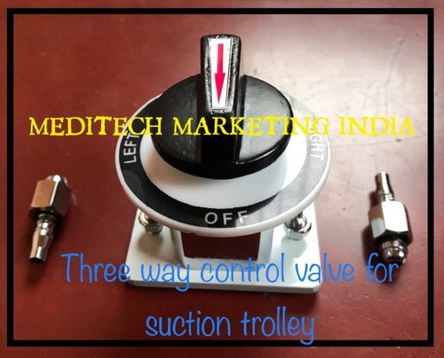 Three Way Control Valve For Suction Trolley