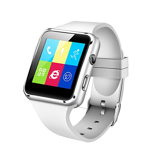 pTron Rhythm Bluetooth Smartwatch, Curve Color Touch Display & Camera