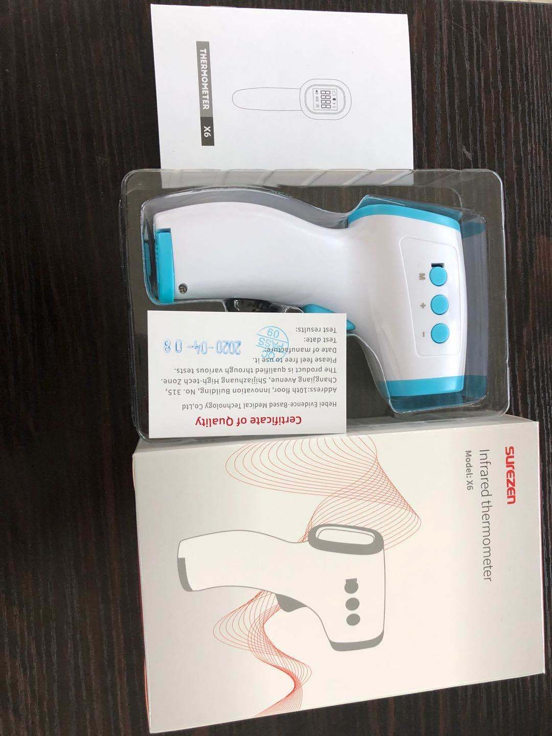 Digital non contact red refrared forehead Thermometer scanner gun