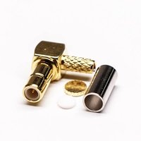SMB Connector Female Crimp Type For Cable Gold Plating