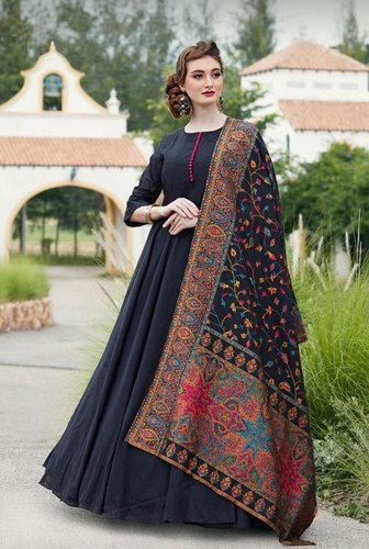 Fancy Long Gown With Designer Dupptta