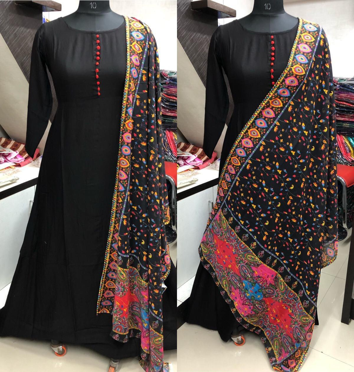 Fancy Long Kurti With Designer Dupptta