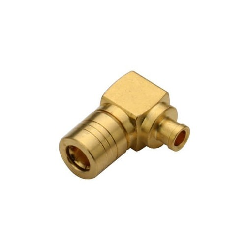 Right Angle SMB Connector Male Solder Type For Cable