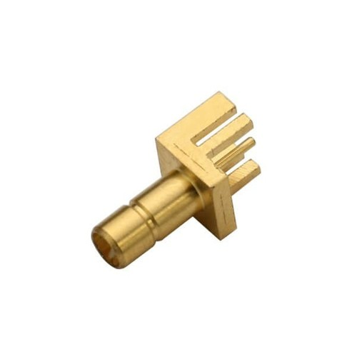 SMB Straight Gold Plated Female End Launch For Mount