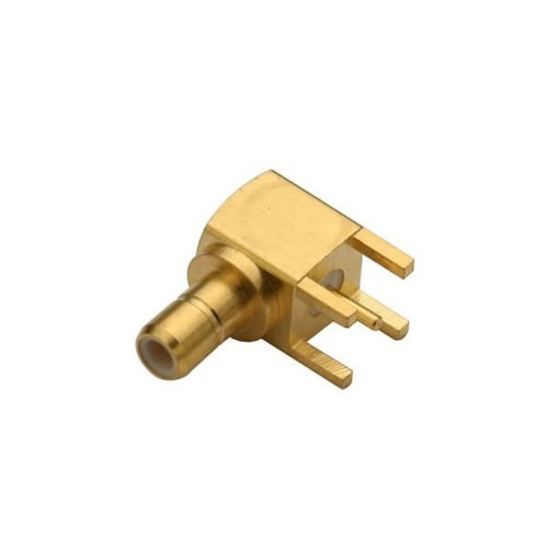 SMB Female Right Angle Connector Through Hole For PCB Mount