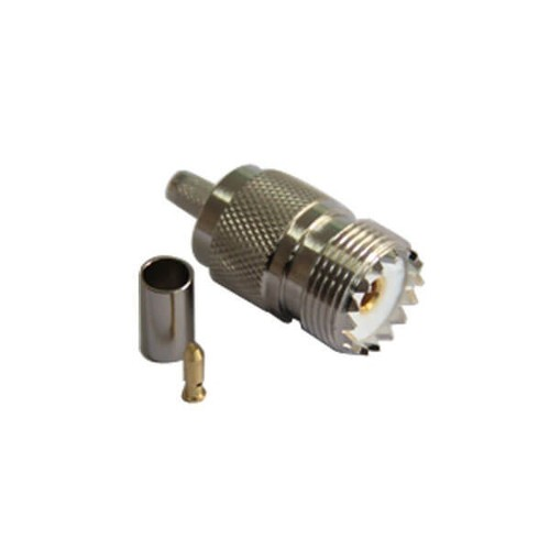 Straight UHF Connector Jack Crimp Type For LMR195