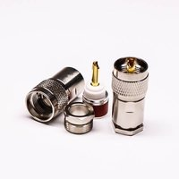 UHF Connector Coaxial Straight Clamp Type Male For Cable
