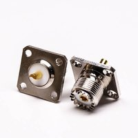 UHF Connector Female Straight With 4 Hole Flange For Panel Mount