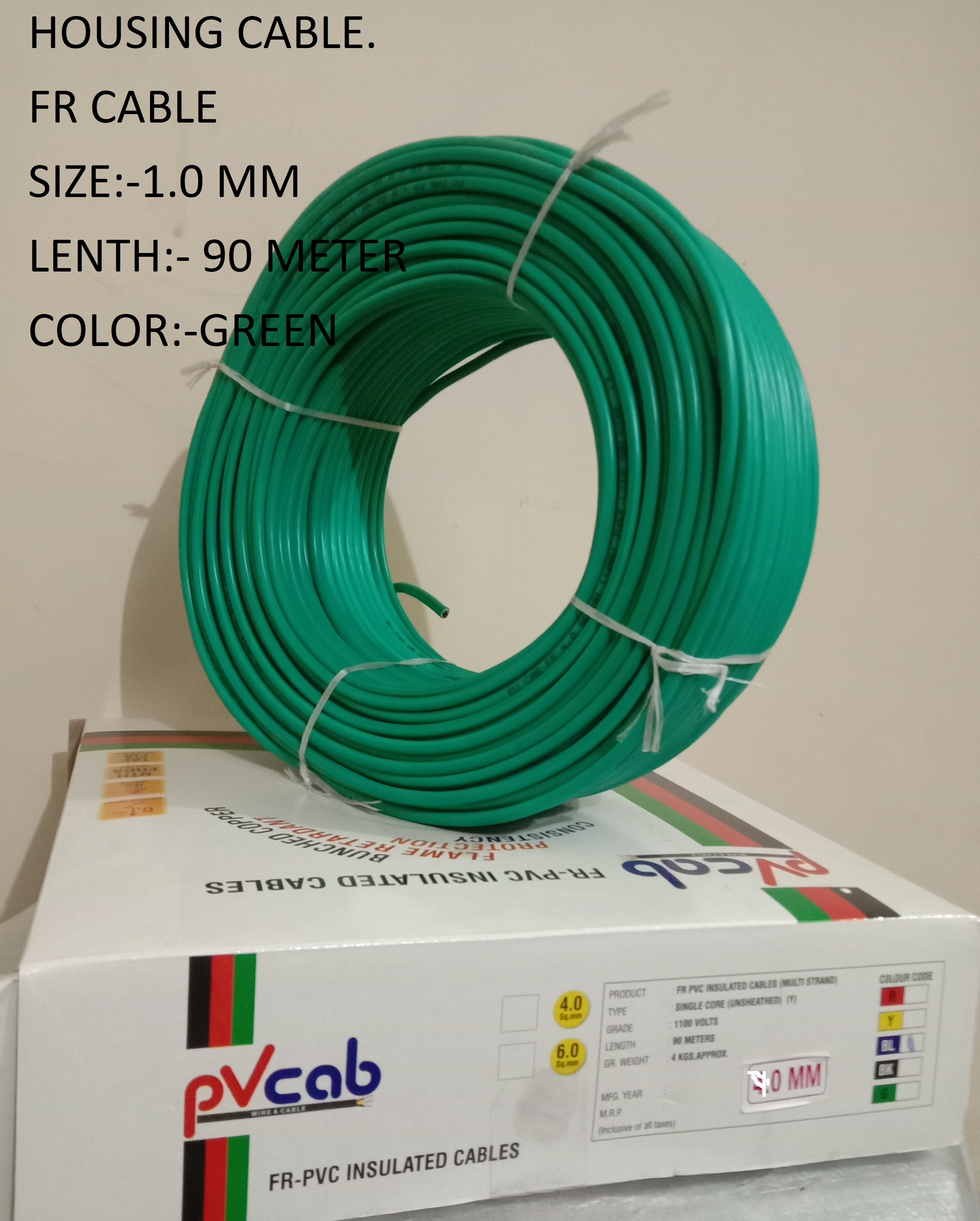 FLEXIBLE HOUSING CABLE HW 1.00 BLACK, GREEN, YELLOW, RED