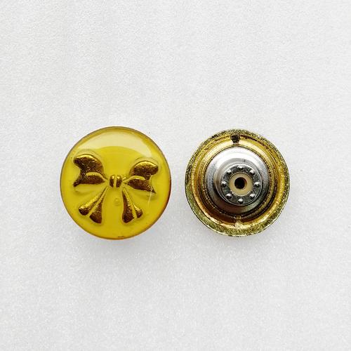 Women Plastic Butterfly Logo Alloy Metal Shank Tack Jeans Button Accessories HD118-19