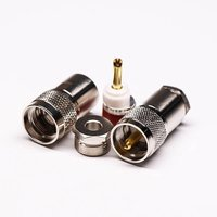 UHF Male Coaxial Connector Straight Clamp Type For Cable