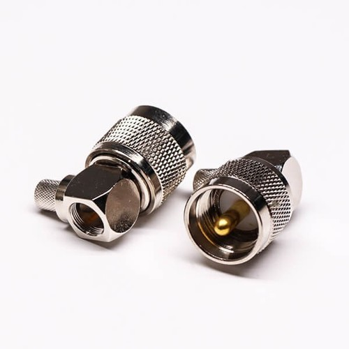 UHF Male Connector Gold Plated Crimp Type For Cable