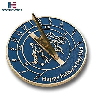 NAUTICALMART Sundial Gift Heavy Duty Cast Brass Sundial Gift Handmade (Father's Day)