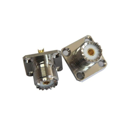 UHF Panel Connector SO 239 4Hole Flange For Mount