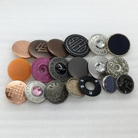 Custom Logo Design Round Brass Zinc Alloy Metal Snap Button for Shirt Jeans Accessories HD06-A