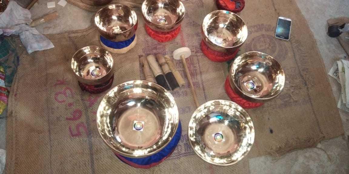 Tibetan Chakra Singing Bowls Set