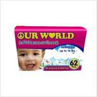 62 Pieces Baby Diaper