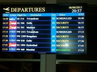 Airport LED Departure Board
