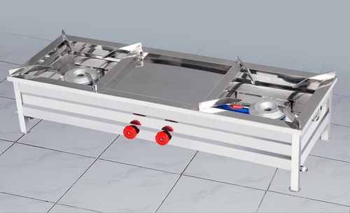 Stainless Steel 2 Burner Gas Stove