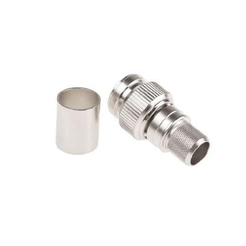 TNC Plug Crimp Straight 50Ω Cable Mount Male Termination For LMR400