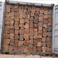 Rough Squared Teak Logs