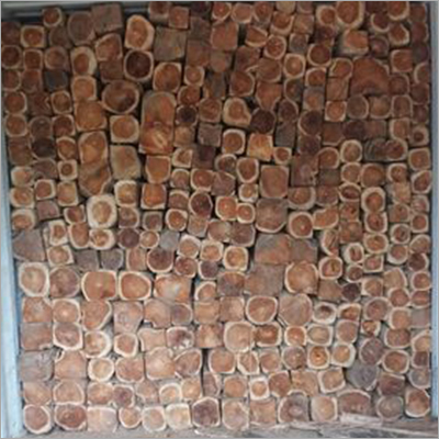 Rough Squared Teak Logs