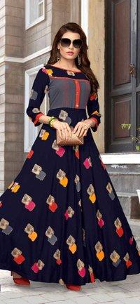 Long Rayon Gown Kurti
