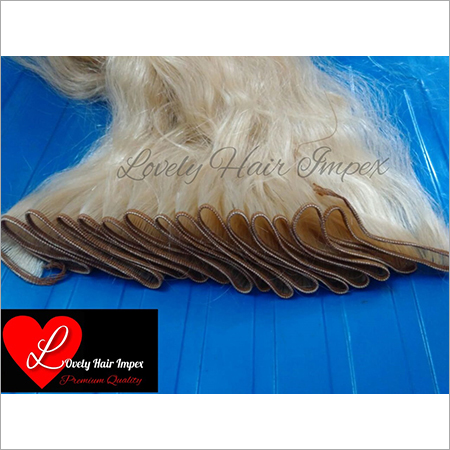 Machine Weft Blonde Hair Wig