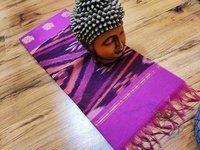 cotton saree ikkat violet with black