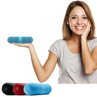 pTron Streak 3W Pill Shape Bluetooth Speaker with Mic, Music Control