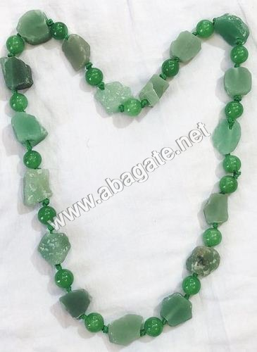 Green Aventurian Raw Gemstone Necklace