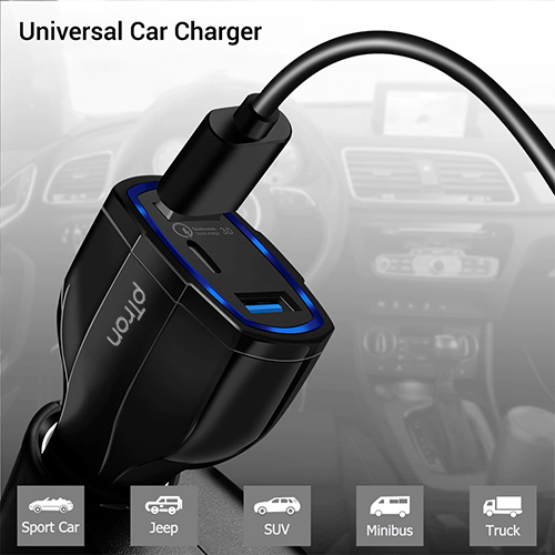 pTron Bullet Pro Qualcomm Certified Quick Charge 3.0 36W Car Charger