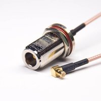 N Connector Cable Assembly Female To MCX Right Angled Male With RG316