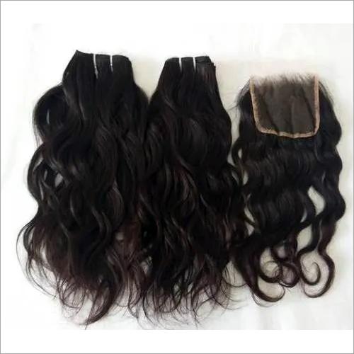 Unprocessed raw Natural Wavy Human Hair